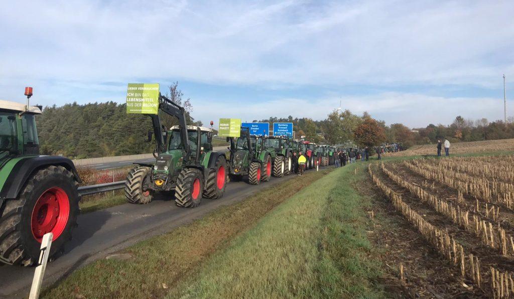 Bild JU Hof-Land Landwirtschaft Protest