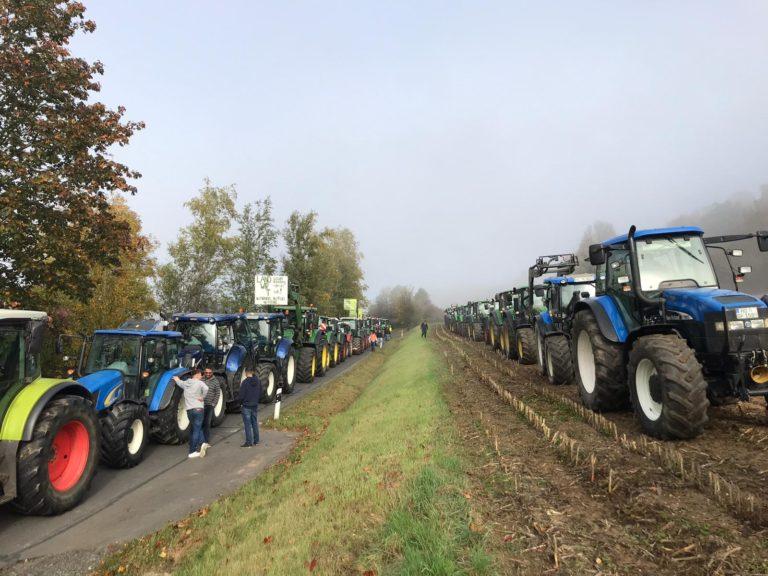 Traktoren Demo im Bayreuther Land