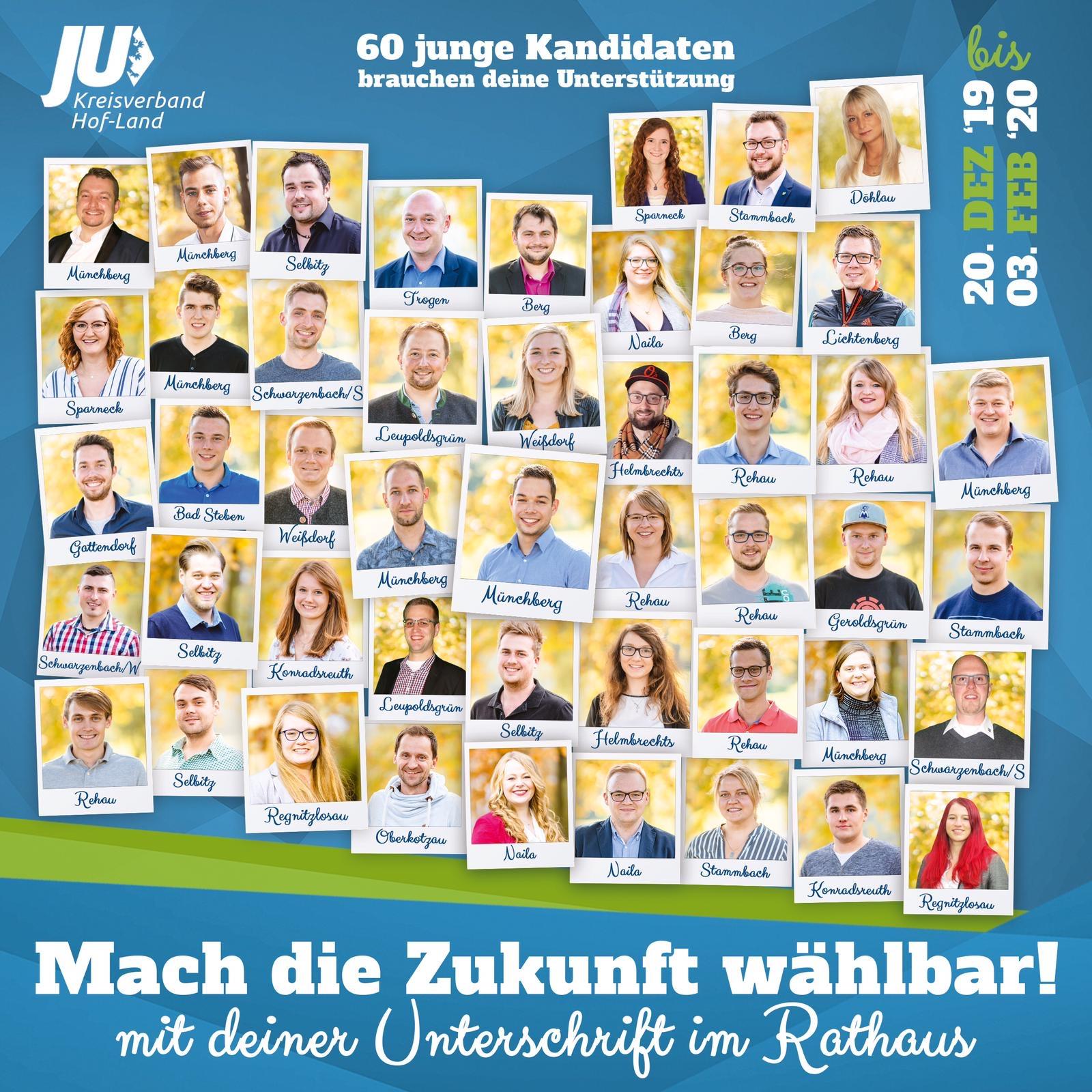 60 junge Kandidaten für die Junge Union Hof-Land Liste